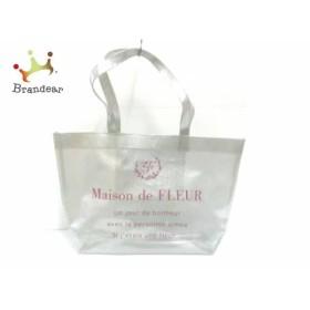 メゾンドフルール Maison de FLEUR トートバッグ クリア×シルバー×ピンク ラメ ビニール     スペシャル特価 20190513