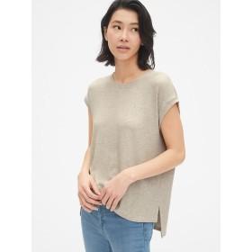 Gap 半袖リブ ステップヘムTシャツ