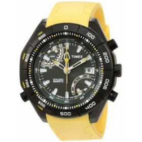 Timexメンズt2N730インテリジェントクォーツアドベンチャーシリーズ高度計イエローラバーストラップウォッチ