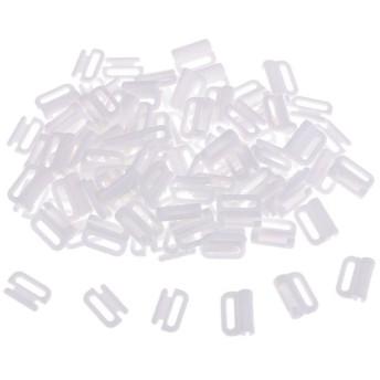 プラスチック ブラダースライダー ブラストラップアジャスター 調節 フック&留め金 バックル 全2色 4サイズ - ホワイト, 10mm