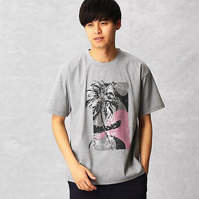 【SALE(三越)】<β MEN> パームツリー柄プリントTシャツ(2703TL01) グレー【三越・伊勢丹/公式】