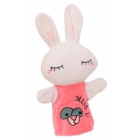 【お取り寄せ】パペット 洋服を着た おねむりウサギさん (ホワイト)