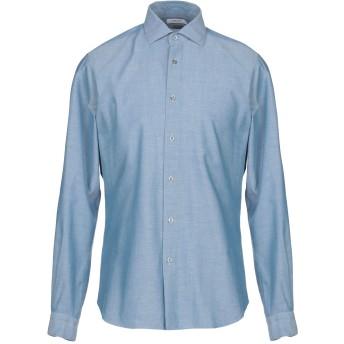 《期間限定セール開催中!》BOGLIOLI メンズ シャツ ブルーグレー 38 コットン 100%