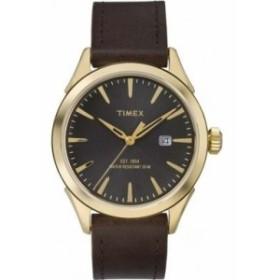 Timex Chesapeakeブラウンレザーストラップ腕時計tw2p77500