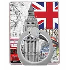 バンカーリング 落下防止 指輪型 ホールドリング スタンド スマホリング iphone8 plus iphone x 全機種対応 England 01        ...