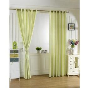 現代風 簡約 ウィンドウカーテン パネルシェードカーテン ジャカード ファッショナブル カーテン 寝間 装飾 多種選べる  - 緑, 100x200cm