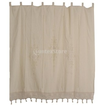 窓 カーテン ドレープ パネル タブ トップ 部屋 飾り レース かぎ針編み 180x180cm