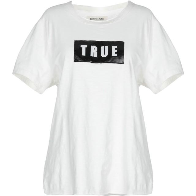 《セール開催中》TRUE RELIGION レディース T シャツ ホワイト XS コットン 100%