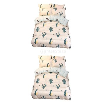 高品質 柔らかい 掛け布団カバー ベッドシーツ 2つの枕カバー 寝具カバーセット 4枚/セット 贈り物 M + L