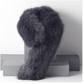 日本の職人手作り ブルーフォックスマフラー マフラー スヌード ストール ファッション小物 防寒