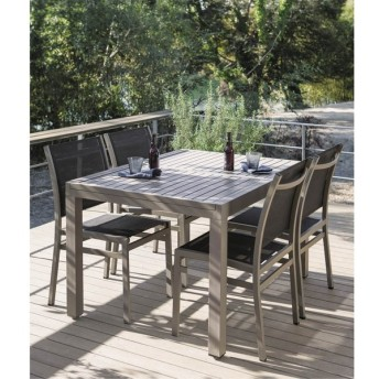 伸長式アルミテーブル&チェア 5点セット G62211