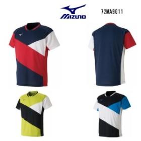 ミズノ ゲームシャツ ドレスネイビー ライムグリーン ブラック XS S M L XL 72MA9011