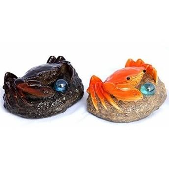 置物 茶寵 茶玩 中国茶道具 お湯をかけると色の変わる 石の上のカニ