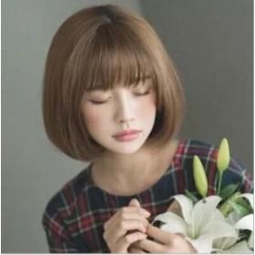 【送料無料】ウィッグ  自然 小顔 フルウィッグ  黒髪 茶髪 レディーズ  耐熱 かつら かわいい 前髪