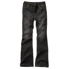 すごのびストレッチデニムブーツカットパンツ(もっともっとゆったり太もも)(股下68cm) (大きいサイズレディース)パンツ