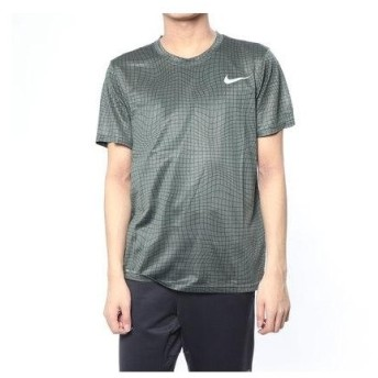 ナイキ NIKE メンズ 半袖機能Tシャツ ナイキ DRI-FIT レッグ グリッド AOP S/S Tシャツ AR5976344
