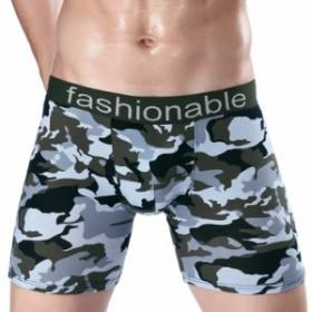 メンズショーツ ロングボクサーパンツ ボックスショーツ インナー 男性下着 前閉じ 前開き ロング丈 パンティー 立体裁断 3D