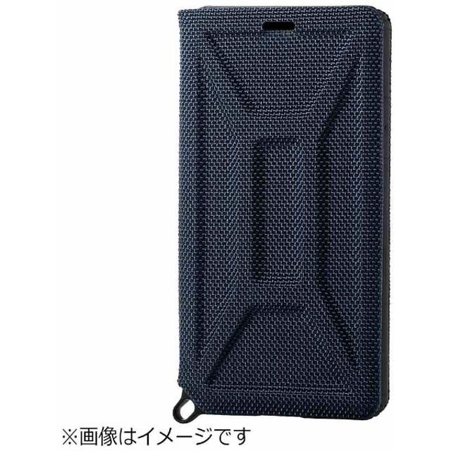 iPhone X用 手帳型 ZEROSHOCK フラップ ブルー PM-A17XZEROFBU