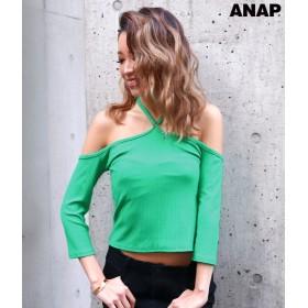 【セール開催中】ANAP(アナップ)テレコリブクロスオフショル七分袖