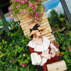 レディース ハット 麦わら帽子 uvカット 日焼け 春 夏 ざっくり リボン付き バンド ぼうし 大きいサイズ