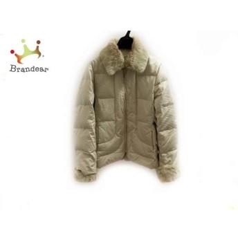 ニジュウサンク 23区 ダウンジャケット サイズ38 M レディース 美品 ベージュ 冬物 値下げ 20190603