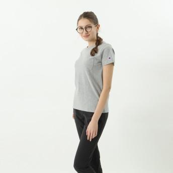 ウィメンズ ポケットTシャツ 19FW チャンピオン(CW-M321)【5400円以上購入で送料無料】
