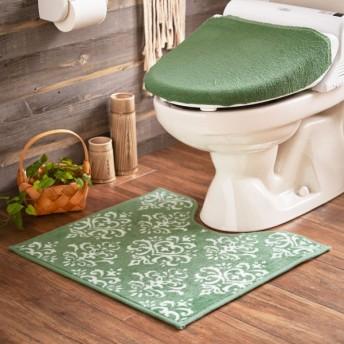 トイレマット スモーキーカラー 洗える すべりにくい シンプル おしゃれ スモークグリーン 標準マットのみ
