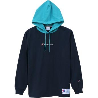 ロングスリーブフードTシャツ 19SS アクションスタイル チャンピオン(C3-M414)【5400円以上購入で送料無料】
