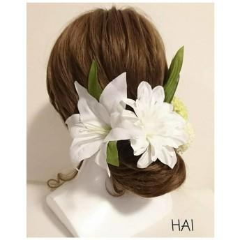 ユリの髪飾り。.::・'°☆HAI