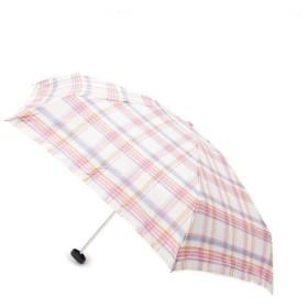[マルイ] 【晴雨兼用】チェック柄折り畳み傘(because)/ハッシュアッシュ(レディス)(HusHusH Ladies)