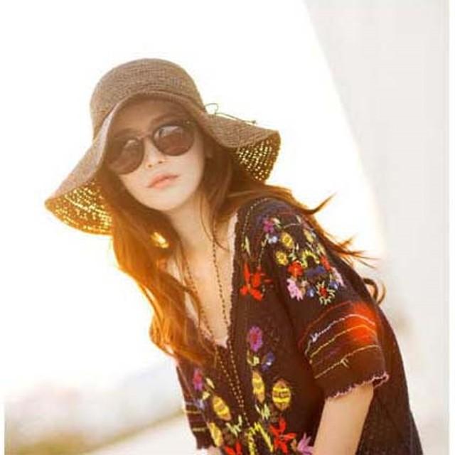 帽子 レディース 麦わら帽子 UV 折りたたみ帽子 つば広 ハット 紫外線対策 UVハット 夏 オシャレ つば広帽子 大きいサイズ 小顔効果 日よけ帽子 旅行