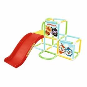 送料無料 アンパンマン うちの子天才カンタン折りたたみ式ジャングルパーク  おもちゃ こども 子供 知育 勉強 遊具 室内 2歳~