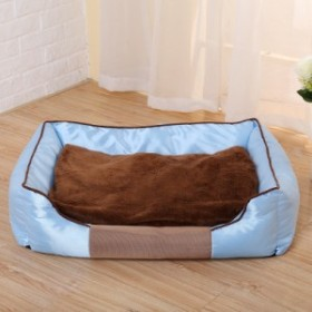 送料無料!ドッグベッド 犬 猫 寝具 ペットベッド  角型 クッションベット 四季通用ソファ ベット サイズL 634918cm 3色 取り外し可能
