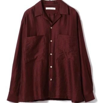 ESTNATION / オープンカラーロングスリーブシャツ ボルドー/MEDIUM(エストネーション)◆メンズ シャツ/ブラウス