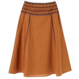 C`EST MOIJEU / C`EST MOIJEU/セモア—ジュ リネン平織刺繍スカート