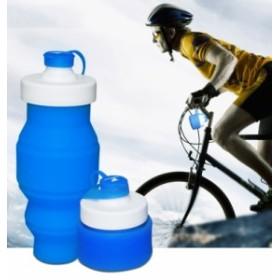 畳めるシリコンボトル ボトル 携帯水筒 コンパクト 折りたたみ 530ml ウォーターボトル 軽量 登山 ジョギング 遠足 サイクリングに最適!
