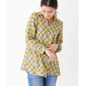 SHOO・LA・RUE / シューラルー 綿チェック ロングシャツ