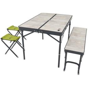 アウトドアテーブル ロゴス ROSY ファミリーベンチテーブルセット