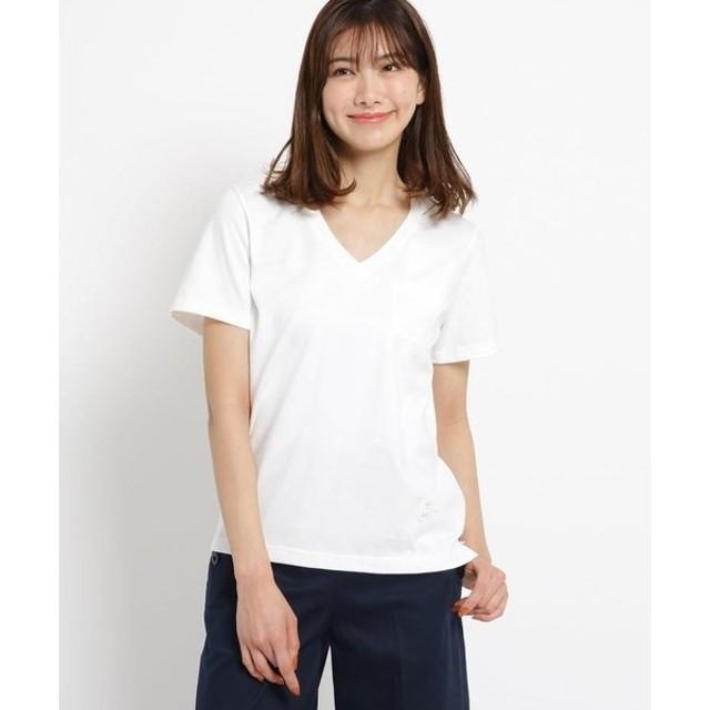 Dessin / デッサン 【洗える】吊り天竺VネックTシャツ