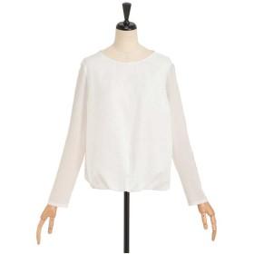 ensuite ブラウンジングチェックカットソー Tシャツ・カットソー,ホワイト