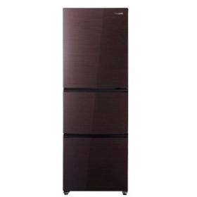 ハイセンス 3ドア冷蔵庫(282L・右開き) HR−G2801−BR ダークブラウン (標準設置無料)