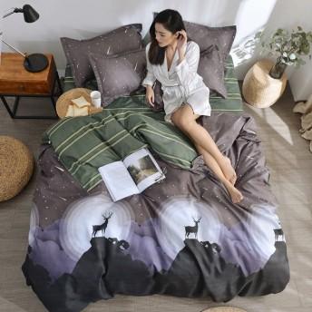 早勝ち大特価 寝具カバー 4点セット 柔らか優しい肌触り 掛布団カバー シーツ 爽やか キッズ 速乾 3点セット 形状安定 吸汗 清潔 E-011