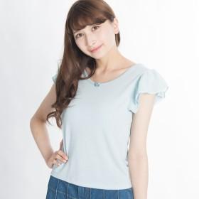 Tシャツ - WEGO【WOMEN】 袖シフォンフリルTEE AV17SS07-L004