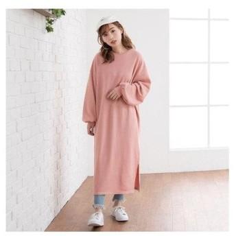 ユメテンボウ 夢展望 スウェットロングワンピース (ピンク)
