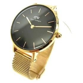 ダニエルウェリントン DANIEL WELLINGTON クオーツ 腕時計 B28R01 Classic Petite Melros 黒 ブラック ゴールド メタル B03677 レディース【中古