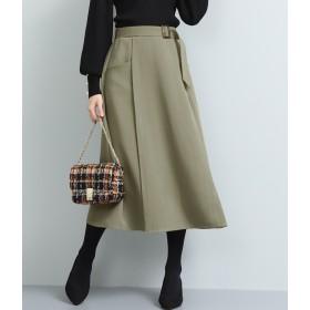 ロングスカート - ViS ベルト付ナローシルエットスカート