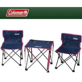 コールマン(Coleman) アウトドアテーブル コンパクトチェアテーブルセット   ネイビー