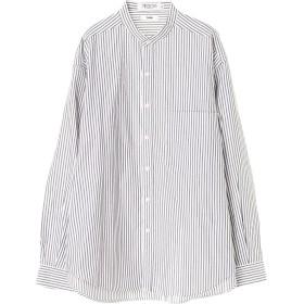 【5,000円以上お買物で送料無料】mens オックスビッグシルエットバンドカラーシャツ