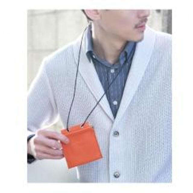 8dfb4abfc833 【 WEB限定 】 com-ono for TAKEO KIKUCHI レザー ネックウォレット [ メンズ 財布