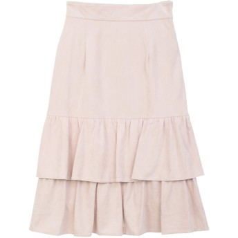 【5,000円以上お買物で送料無料】裾フリルタイトスカート